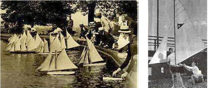 Първи състезания с яхти