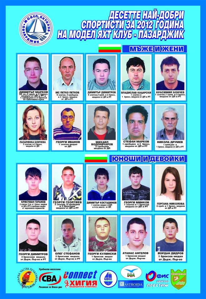 Десетте най-добри спортисти за 2012г. в гр. Пазарджик